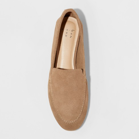 5f73908158b Women s Mila Suede Loafers - A New Day™ Taupe 6.5   Target