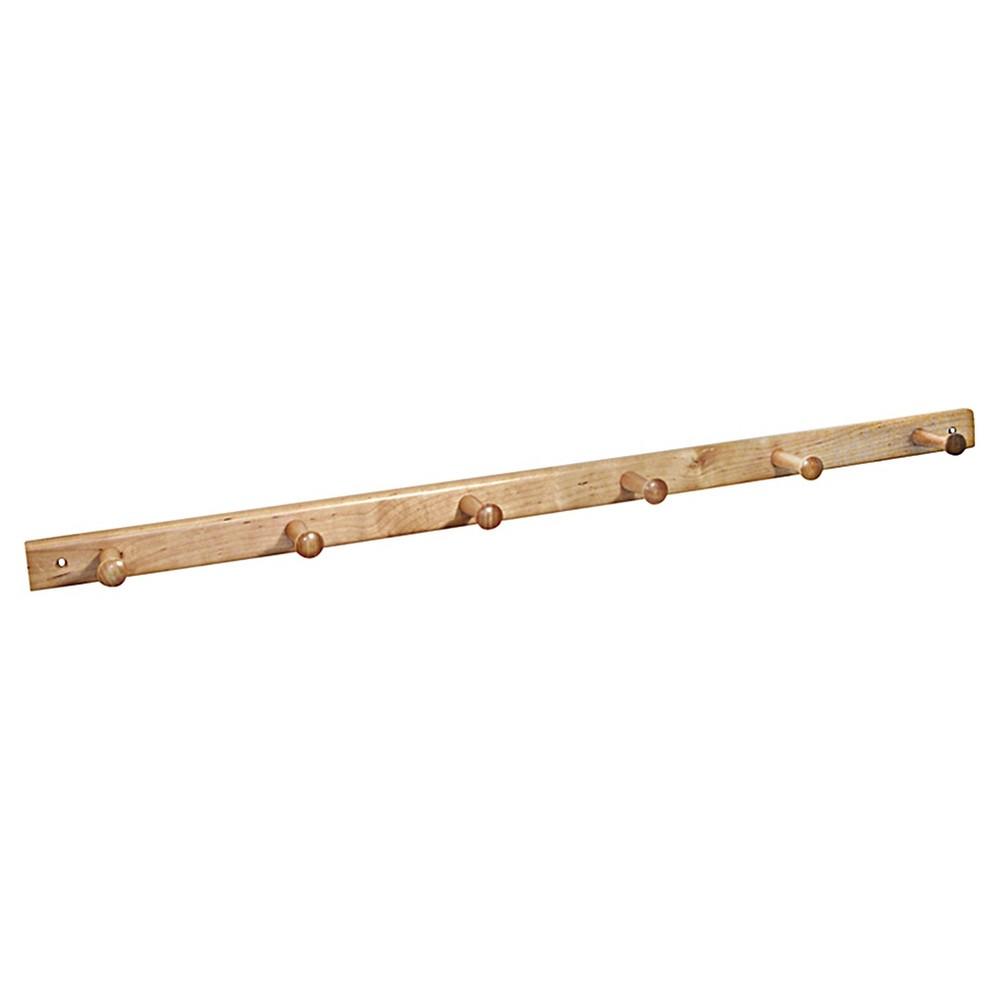 Image of InterDesign 6-Peg Wood Storage Rack - Natural (32)