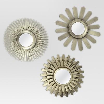 Sunburst Mirror Set of 3 Gold - Threshold™