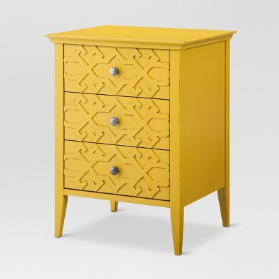 Fretwork Accent Table yellow - Threshold™