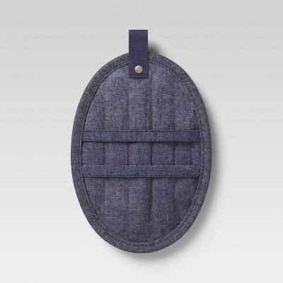Cotton Chambray Pot Holder Blue - Project 62™