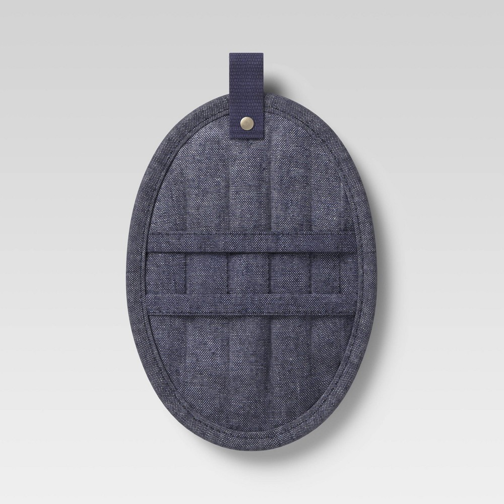 Cotton Chambray Pot Holder Blue Project 62 8482