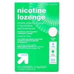 Nicotine 4mg Lozenge Stop Smoking Aid - Mint - Up&Up™