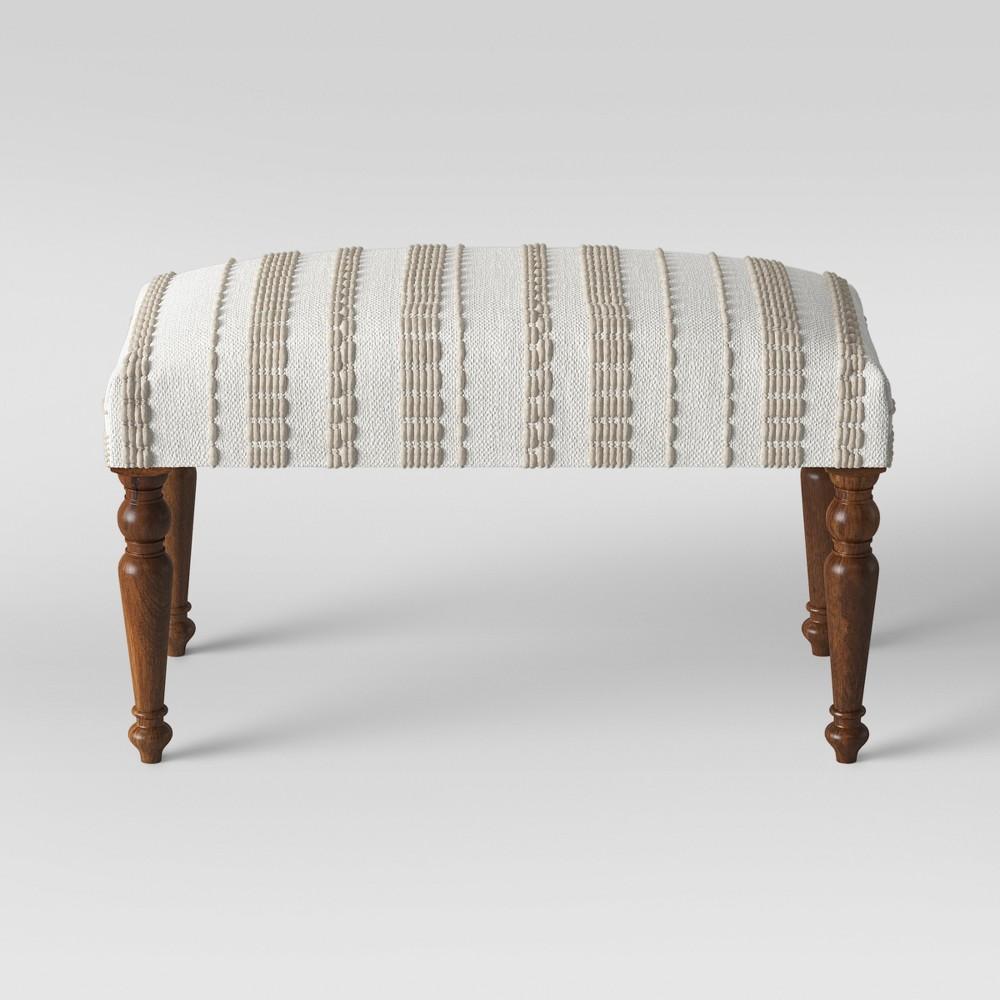 Textured Large Ottoman Neutral - Opalhouse, White