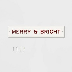 Sign Merry & Bright Cream - Hearth & Hand™ with Magnolia