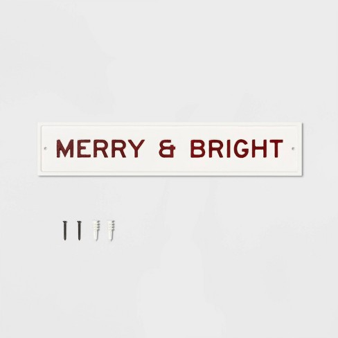 Sign Merry & Bright Cream - Hearth & Hand™ with Magnolia - image 1 of 2