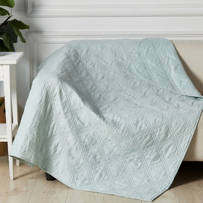 Linen Front/Cotton Back Quilted Throw - Levtex Home