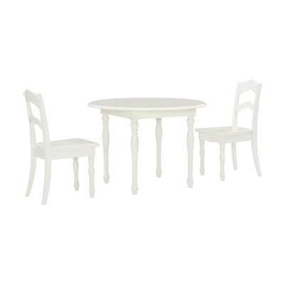 3pc Londyn Table and Chairs Set White - Powell Company