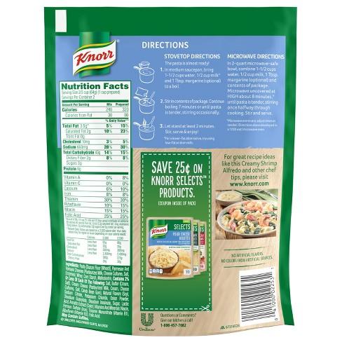 Knorr® Pasta Sides Pasta Side Dish Alfredo - 4.4oz : Target