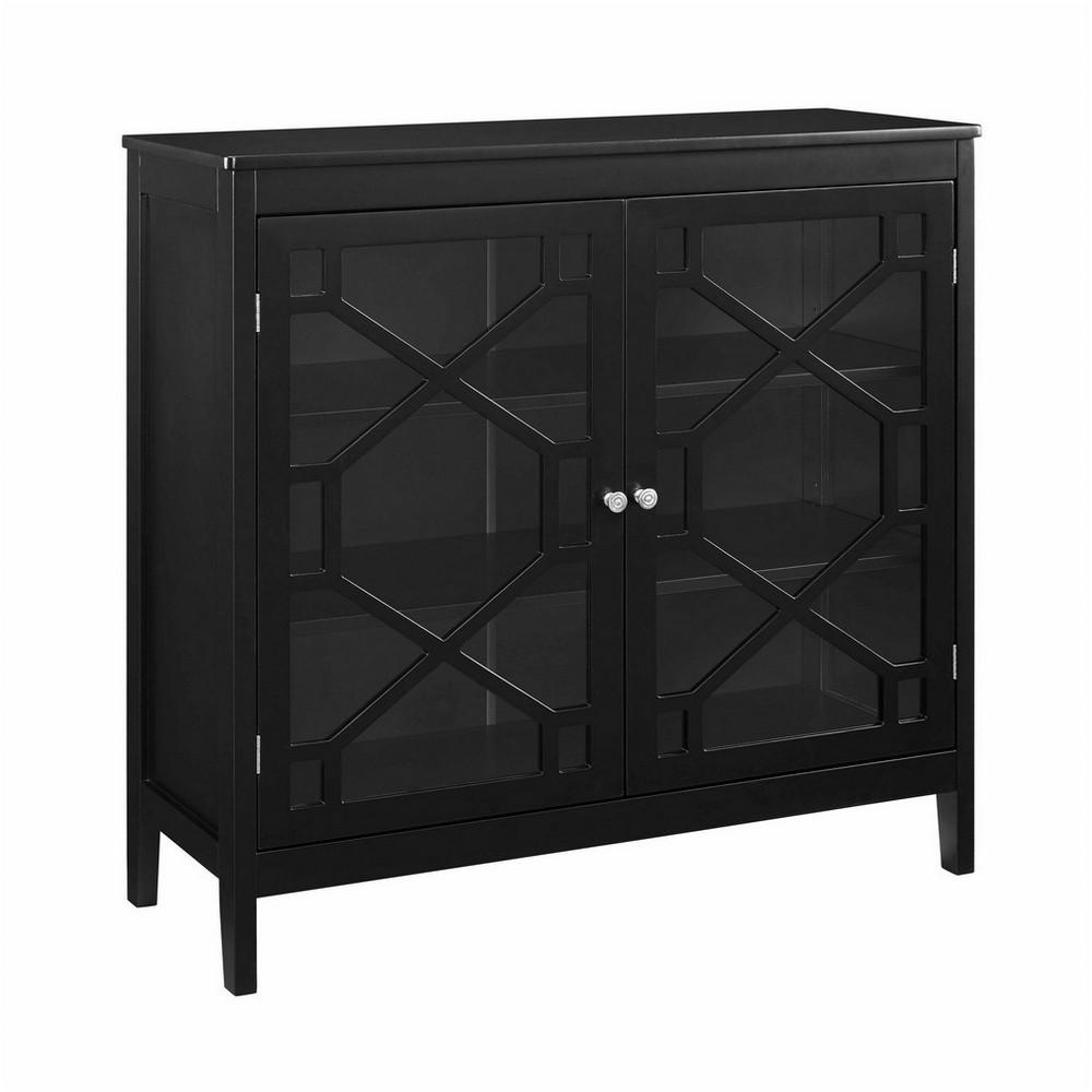 Fetti Black Large Cabinet Black - Linon