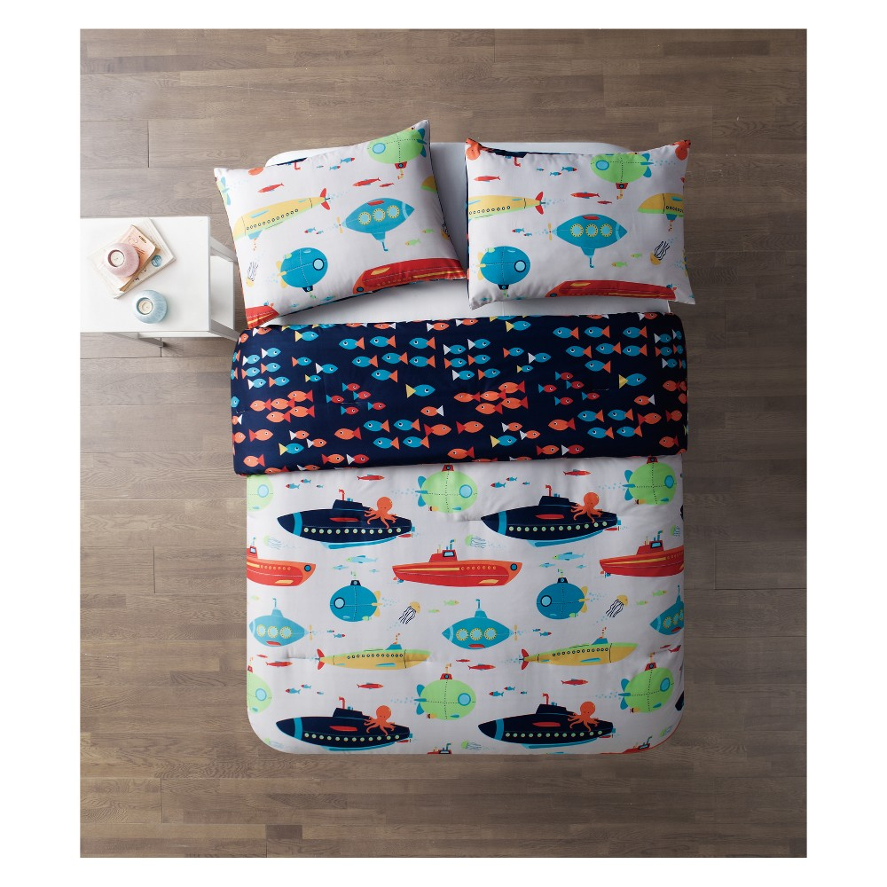 Submarine Comforter (Full) - 3pc - Vcny Home, Multicolored