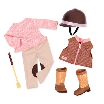 """Our Generation Horseback Riding Outfit for 18"""" Dolls - Riding in Style - Pink"""