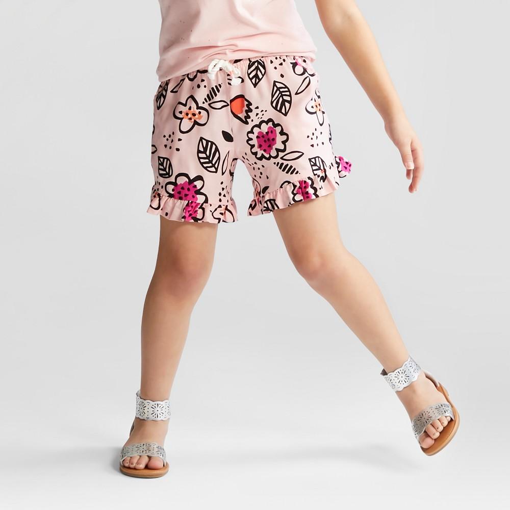 Girls' Challis Fashion Shorts - Cat & Jack Daydream Pink XL