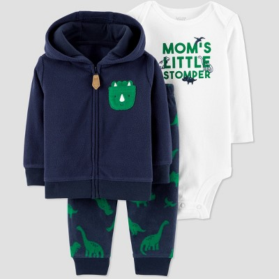 Baby Boys' 3pc Dino Cardigan Set - Just One You® made by carter's Navy/Green Newborn