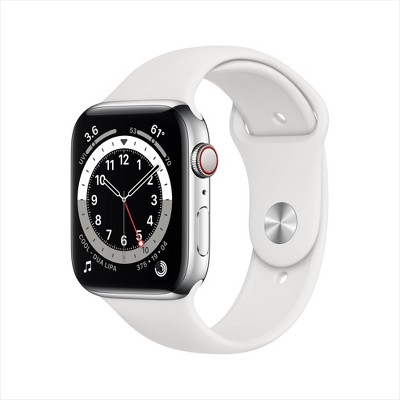 Apple Watch Series 6 GPS + Cellular Stainless Steel with Sport Band