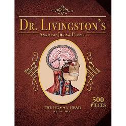 Genius Games Dr. Livingston's Human Anatomy: The Human Head Jigsaw Puzzle - 538pc