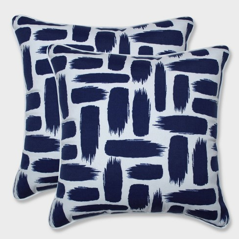 "18.5"" 2pk Baja Nautical Throw Pillows Blue - Pillow Perfect - image 1 of 1"