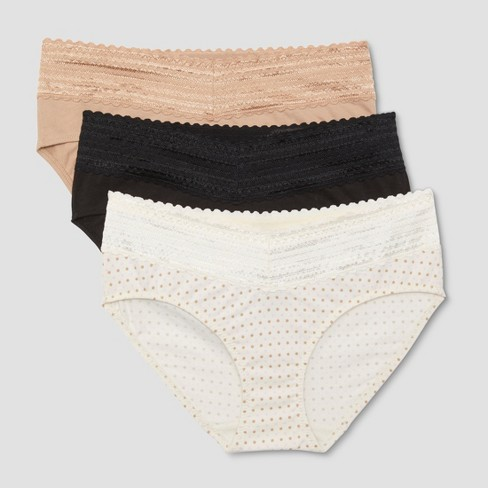 bb31922ab6bf Simply Perfect By Warner's® No Muffin Top Women's Hipster With Lace RU0093T  Black Toasted Almond : Target