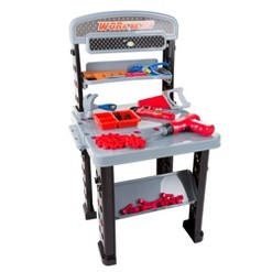 Pretend Play 75-Piece Tool Set & Adjustable Workbench by Hey! Play!
