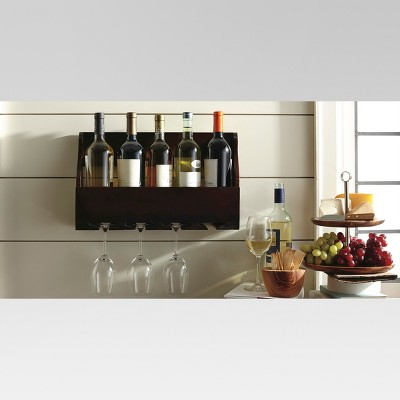 5-Bottle Wine and Glass Holder - Threshold™