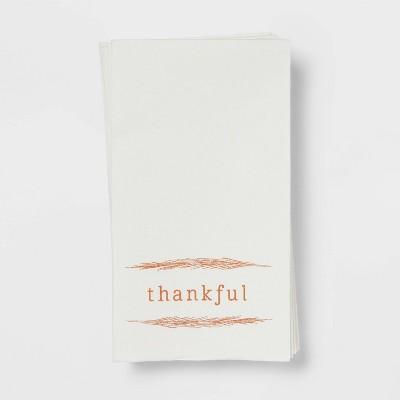 16ct Paper Thankful Disposable Napkins - Threshold™