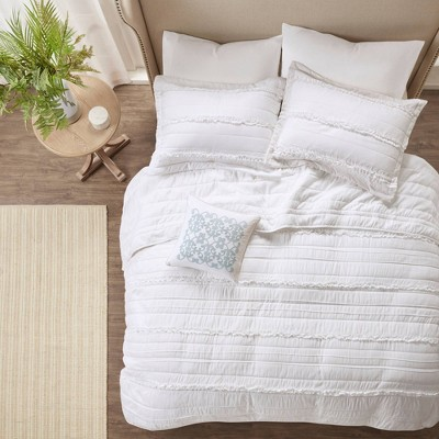 Alexis Ruffle Quilted Coverlet Set - 4pc