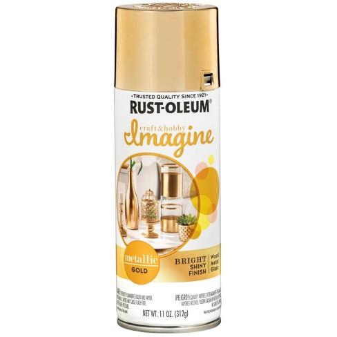 Rust-Oleum 11oz Imagine Metallic Spray Paint Gold - image 1 of 3