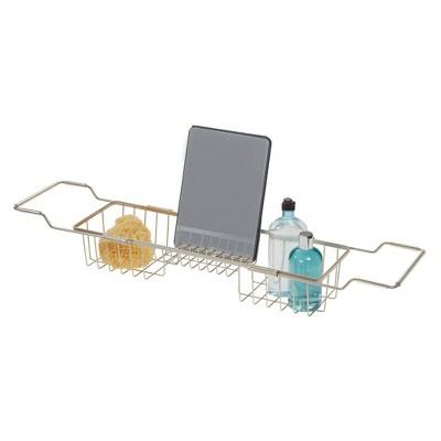 Everett Adjustable Over the Bathtub Caddy Silver - iDESIGN