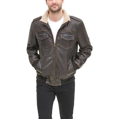 Levi's® Men's Faux Leather Sherpa Aviator Bomber