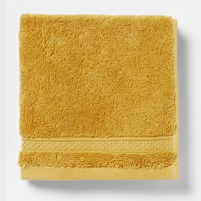 Perfectly Soft Solid Washcloth Fall Yellow - Opalhouse™