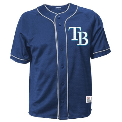 MLB Tampa Bay Rays Men's Button-Down Jersey