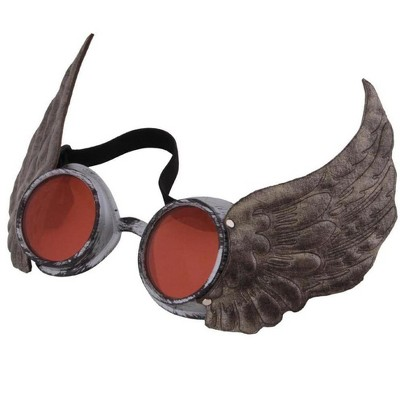 Elope Steampunk Silver Winged Costume Goggles Adult