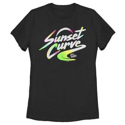 Women's Julie and the Phantoms Sunset Curve Band Logo T-Shirt