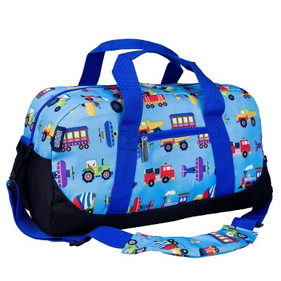 Wildkin Olive Kids' Trains-Planes & Trucks Duffel Bag