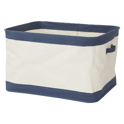 Large Collapsible Canvas Toy Storage Bin Navy   Pillowfort™