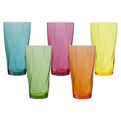 Acrylic Twist Tumbler Set of 10 - Assorted (24 oz)