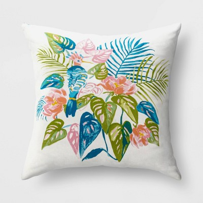 Palm Bird Reversible Throw Pillow - Opalhouse™