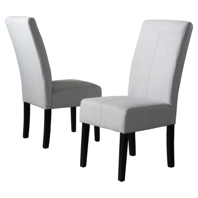 Set of 2 Pertica Dining Chairs Light Gray - Christopher Knight Home