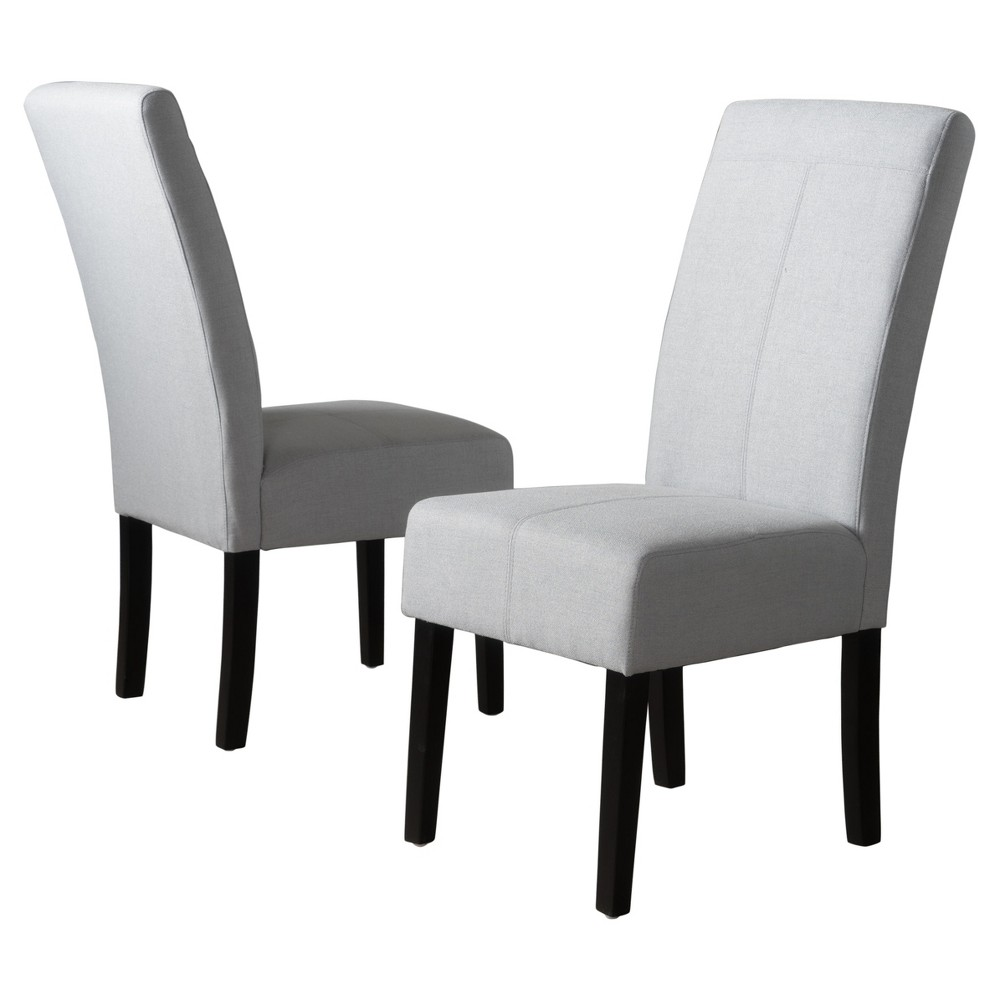 Pertica Dining Chair - Light Gray (Set of 2) - Christopher Knight Home