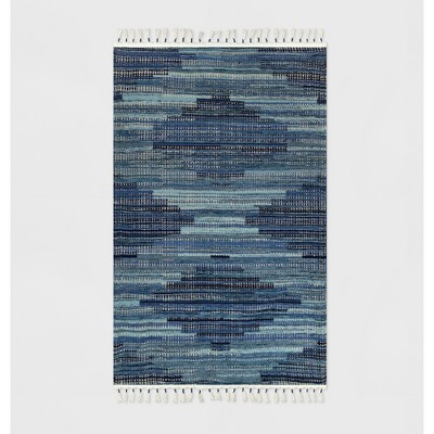 30  x 50  Diamond Tassel Outdoor Rug Blue - Opalhouse™