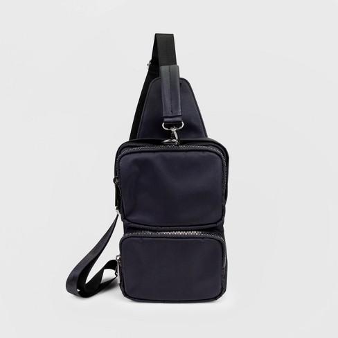 Stella & Max Front Back Sling Pack- Black - image 1 of 4