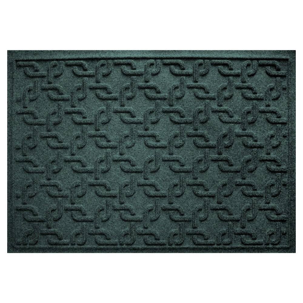 Evergreen (Green) Solid Pressed Doormat - (2'X3') - Bungalow Flooring