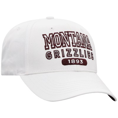 NCAA Montana Grizzlies Men's White Twill Structured Snapback Hat