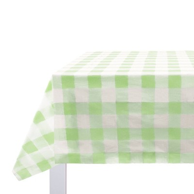 Tablecover Value Easter Plastic Gingham Mint- Spritz™