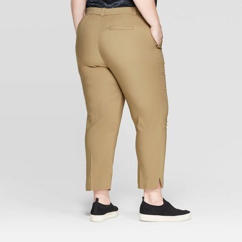 a7de8656e502b Women s Plus Size Mid-Rise Ankle Length Skinny Fashion Pants - Prologue™  Olive 20W   Target