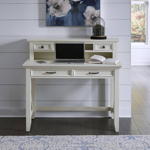 Seaside Lodge Student Desk and Hutch White - Home Styles - image 1 of 2
