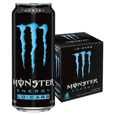 Monster Energy, Lo-Carb - 4pk/16 fl oz Cans