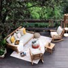 Abbington Teak Daybed with Cushion - Beige - Cambridge Casual - image 3 of 4