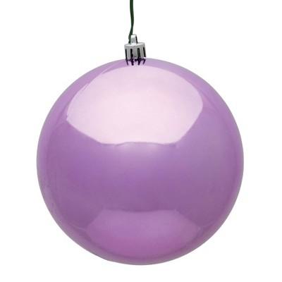 """Vickerman 2.4""""/24ct Shiny Ball Ornament UV Coated Orchid"""