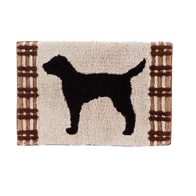 20  x 30  Adirondack Dogs bath rugs and mats Beige - Saturday Knight Ltd.